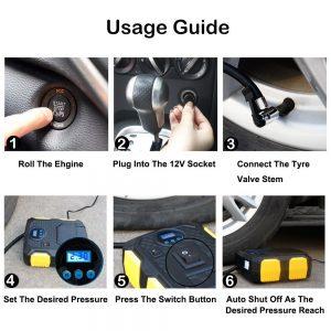 Instrucciones de uso del compresor de aire