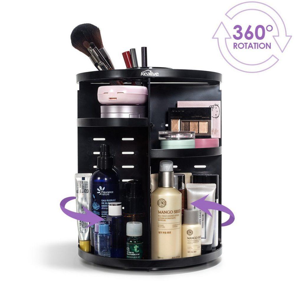 Organizador de maquillaje base giratoria